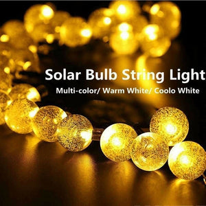 LED Solar String Light Super Bright Outdoor Solar Bubble Lights 20/30/50/100LED Fairy String Light Landscape Lamp Christmas Decor Lights