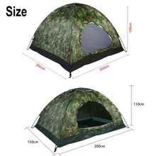 Load image into Gallery viewer, 1-4 Persons Waterproof Portable Camouflage Tent Outdoor Camping Tent Ultraviolet-proof Tents