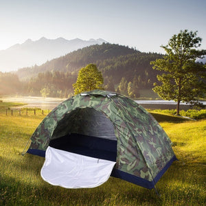 1-4 Persons Waterproof Portable Camouflage Tent Outdoor Camping Tent Ultraviolet-proof Tents