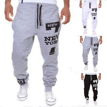 Load image into Gallery viewer, Print Mid Waist Polyester Loose Men's Pants
