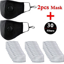 Load image into Gallery viewer, 2pcs Dust Mask N95 Protection Allergies Adjustable Masks with 30 Filters