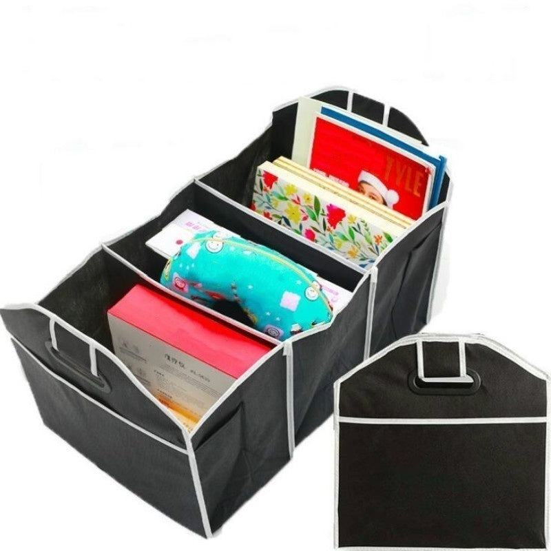 Car Multi-Pocket Trunk Organizer High Capacity Folding Storage Bag Stowing and Tidying Trunk Organizer