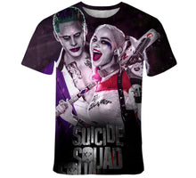 Load image into Gallery viewer, 2020 Summer 3D Print Harley Quinn Joker Men and women  Hipster  t shirt