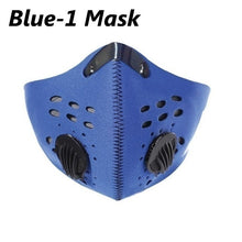 Load image into Gallery viewer, 1PC Mask with 10 Filters Sports Face Mask Anit-fog Breathable Dustproof Bicycle Respirator Sports Protection Mouth-Muffle Dust Mask