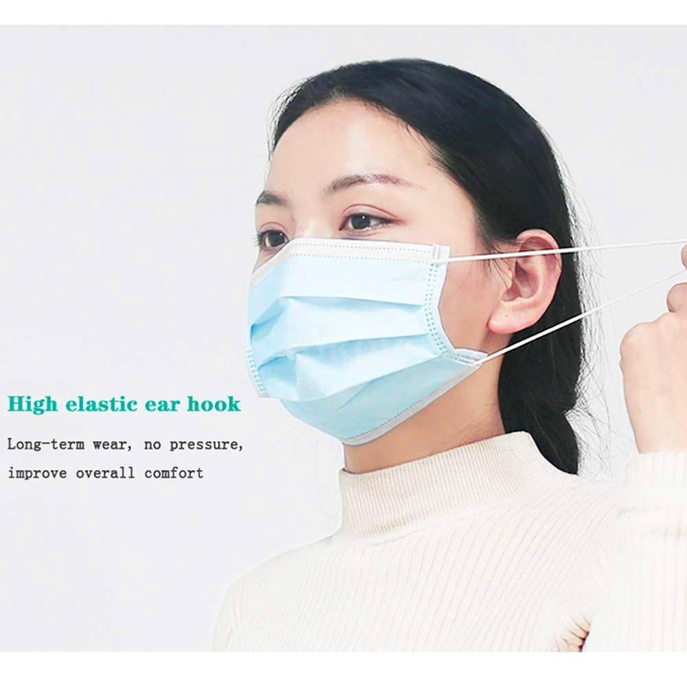 50/100PCS Face-Mask Disposable Anti PM2.5 Anti Particle Face Cover Breathable Dustproof Mouth-Mask