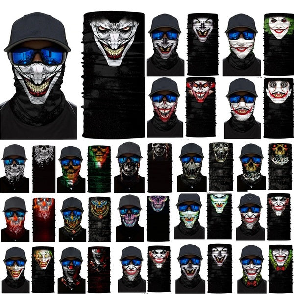 3D Skull Joker Clown Bandana Face Mask Winter Ski Cycling Neck Scarf Balaclava
