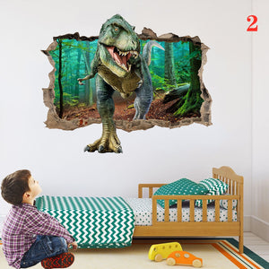 3D Dinosaur Bedroom Living Room Decoration Home Wall Stickers Three-dimensional Decorative Painting Various Cartoon Wall Stickers Animal Wall Stickers