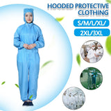 1/2PCS  S-3XL Non-disposable protective clothing Anti-static clothing Unisex Workwear Set Electronics Pharmaceutical workshop Clean clothingSiamese dust-free clothing Hooded Overalls Food machinery