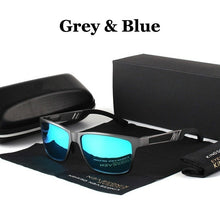 Load image into Gallery viewer, New Fashion Men's Sunglasses Polarized Sunglasses Aluminum Magnesium Sunglasses Retro Brand Designer Driver Glasses Sport Eyewear UV 400 Protection Sunglasses
