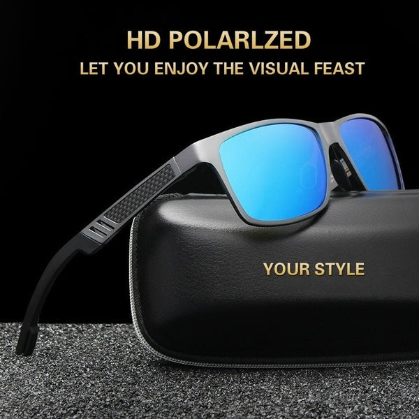 New Fashion Men's Sunglasses Polarized Sunglasses Aluminum Magnesium Sunglasses Retro Brand Designer Driver Glasses Sport Eyewear UV 400 Protection Sunglasses