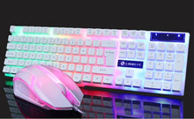 Load image into Gallery viewer, New Glowing Keyboard Mouse Combo USB Wired RGB Backlight Desktop Keyboard Mouse Gaming for PC Laptop Gamer Usbplug Fortressnight Computer Mechanical Keyboards or Mouse