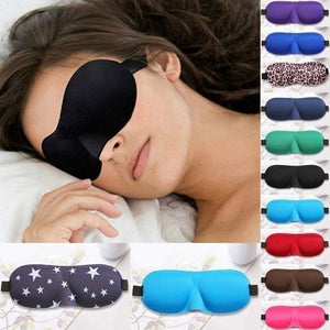3D Sleeping Eye Mask Cover Patch Paded Soft Relax  Sleeping Blindfold