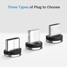 Load image into Gallery viewer, Round Magnetic Cable Plug Micro USB Type-C Plugs Charging Adapter Magnet Charger Cord Plug