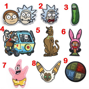 CA1042 1 Pcs Cartoon Patches for Clothing Iron on Embroidered Sew Applique Cute Patch Fabric Badge DIY Apparel Accessories