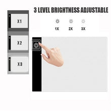 Load image into Gallery viewer, For 5D Diamond Painting A4/A5 Size LED Light Pad - Dimmable Light Board Kit, Apply to Full Drill & Partial Drill Tracing Board Copy Pad Drawing Tablet Adjustable Brightness, with USB Powered Projector Kit