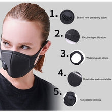 Load image into Gallery viewer, 6PCS Pollution Mask Military Grade Anti Air Dust and Smoke Pollution Mask with Adjustable Straps and a Washable Respirator Mask Made For Men Women(In Stock)