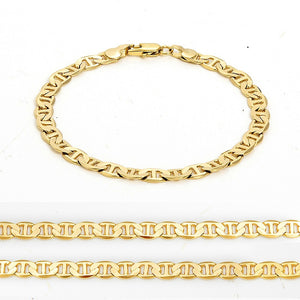 14K Solid Yellow Gold Bracelet Chain For Men Jewelry Women Jewelry 210mm 8.3' Stamped 14K