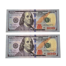 Load image into Gallery viewer, 20 50 100 Dollars Fake COPY REPLICA REPRODUCTION Play Aged Prop Money Copy Stacks Bundle For Movies, TV, Film, Music Videos