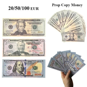 20 50 100 Dollars Fake COPY REPLICA REPRODUCTION Play Aged Prop Money Copy Stacks Bundle For Movies, TV, Film, Music Videos