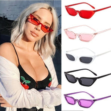 Load image into Gallery viewer, New Trend Small Frame Sunglasses Transparent Ocean Piece Cat Eye Sunglasses Fashion Street Sunglasses
