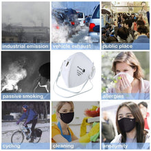 Load image into Gallery viewer, 10 PCS FFP3 Face Mask Vented Face Mask With Respirator & Filters