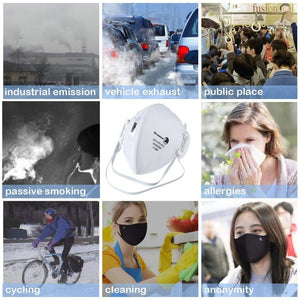 10 PCS FFP3 Face Mask Vented Face Mask With Respirator & Filters