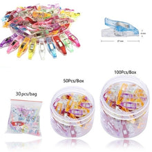 Load image into Gallery viewer, NEWEST 25/50/100pcs Plastic Quilter Holding Wonder Clips Clamps Sewing Craft Quilt Binding Set