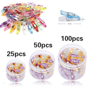 NEWEST 25/50/100pcs Plastic Quilter Holding Wonder Clips Clamps Sewing Craft Quilt Binding Set