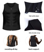 Load image into Gallery viewer, New Men Waist Trainer Vest Weightloss Hot Neoprene Corset Compression Sweat Body Shaper Slimming Sauna Tank Top Workout Shirt