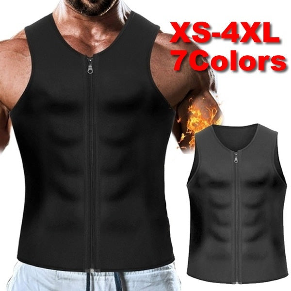 New Men Waist Trainer Vest Weightloss Hot Neoprene Corset Compression Sweat Body Shaper Slimming Sauna Tank Top Workout Shirt