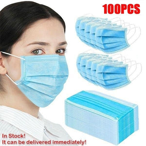 50/100pcs Disposable Protection Masks Breathable Dustproof 3-layer Earloop