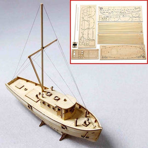 New Wooden Sailing Boat Model DIY Kits 1/50 Scale Ship Assembly Building Educational