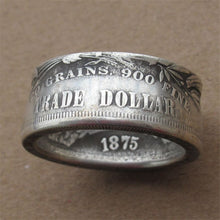 Load image into Gallery viewer, NEW Morgan Dollar Ring Coin Rings Handcraft Ring Handmade From Statue Liberty 90% Coin Silver Plated Ring US Size 6-13
