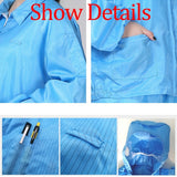 S-3XL Coverall Anti-epidemic Antibacterial Nylon Closures Isolation Suit Safety Protective Clothing Hooded Suit Dust-proof Coveralls Antistatic