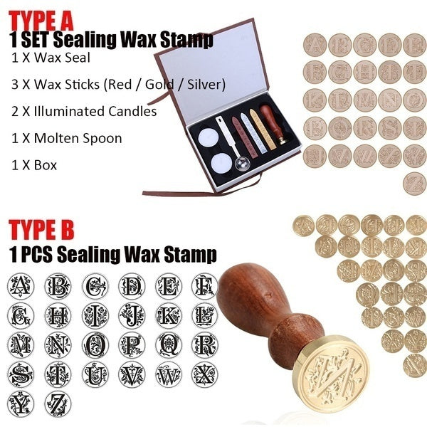 New Sealing Wax Classic Initial Wax Seal Stamp Alphabet Letter B Retro Wood