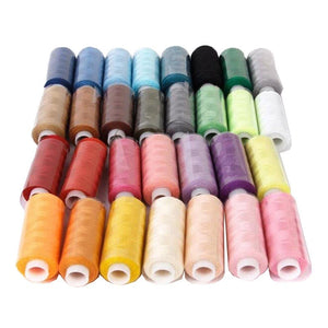 30 Spools Mixed Colors 100% Polyester Sewing Quilting Threads Set All Purpose