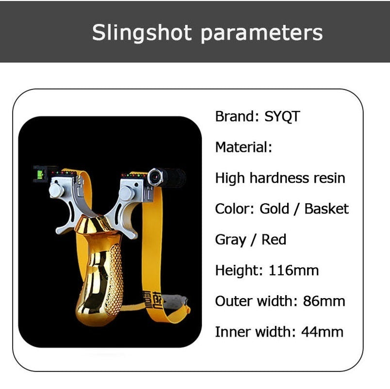 Big Power Slingshot with Laser Rubber Band High Precision Flat Leather Slingshot Professional Fast Bow Outdoor Special for Hunting