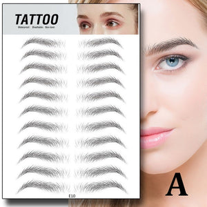 4D Eyebrow Sticker Bionic Brow Semi-Permanent Water Transfer Waterproof Tattoo