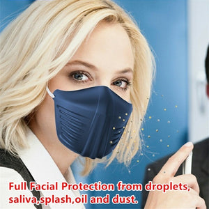Outdoor Face Protection Isolation Mask Dustproof Antidroplet Face Cover Breathable Safe Mask