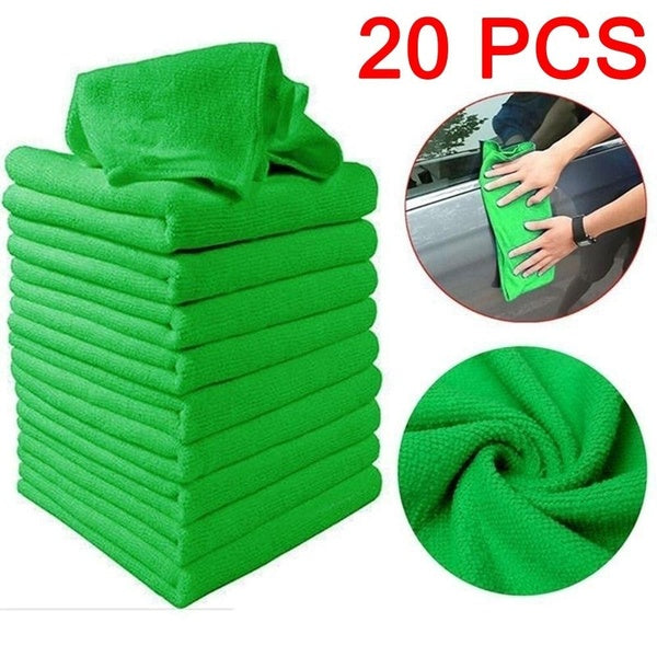 1/5/10/20Pcs Microfibre Cleaning Auto Soft Cloth Washing Cloth Towel Duster 25x25cm Car Home Cleaning Micro Fiber Towels