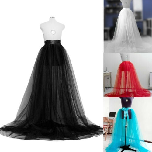 Women Tutu Long Skirts Wedding Party Cocktail Prom Bandage Mesh Dress