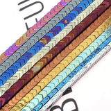 1x3,3x6,2x6,3x8mm V Shape Spacer Beads Colorful Hematite Beads Natural Stone Beads For Necklace Bracelet Jewelry Making