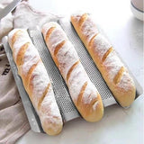 Perforated Baguette Pan Non-Stick French Bread Pan Wave Loaf Mold Baking Tools (4/3/2 Gutters)