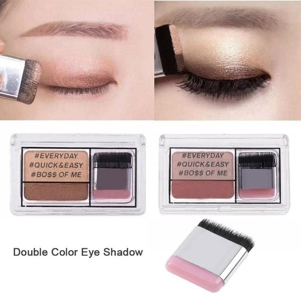 women makeup 3 seconds eyeshadow makeup double layer coloured gradation cosmetic brush