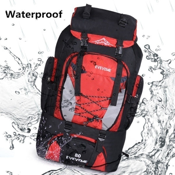 New 80L Large Outdoor backpack Camping Travel Bag Hiking Backpack Unisex Rucksacks Waterproof sport bags Climbing package for Adult or child
