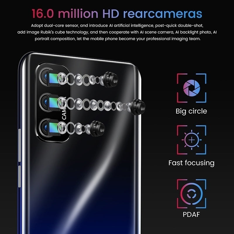 2020 NEWEST S20mini 4K Android OS 9.1 System 3800mAh 4G+64G 5.0 Inches HD 1440*3040 Full Screen Ultra-thin Smart 4G 5G Network 13MP+24MP Phone Smartphone Face/Fingerprint HD Camera Bluetooth Navigation Phones