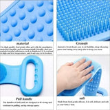 New Silicone Bath Brush Soft Scrubber Skin Massage Brush Feet Rubbing Body Brush for Back Exfoliation Brushes Bathroom Accessories