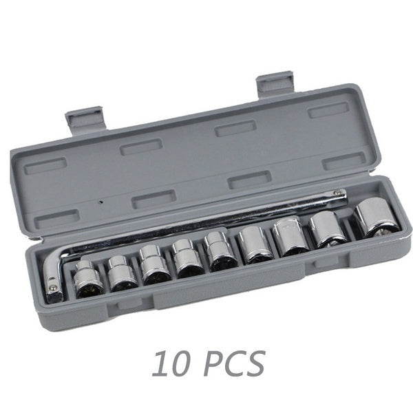 New 1/10/46PCS General Household Car AUTO Repair Tool Kit with Plastic Toolbox Storage Case 1/4 inch Socket Ratchet Wrench Screwdriver Hand Tool Set