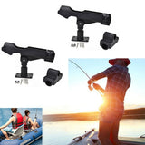 2/4Pcs Fishing Rod Holder Rotatable Fishing Bracket with Screws for Boat Kayaking Yacht Accessory Fishing Tool