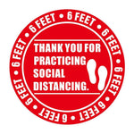 Thank You Social Distance Pack of 1, 5, 10, 15, 20 Floor Stickers - InteliBEE Technologies